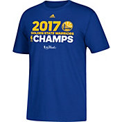 adidas Men's 2017 NBA Champions Golden State Warriors Roster Royal T-Shirt