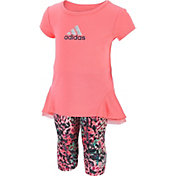 adidas Infant Girls' T-Shirt and Printed Capris Two-Piece Set