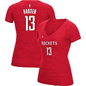 adidas Women's Houston Rockets James Harden #13 Red Tri-Blend V-Neck T-Shirt