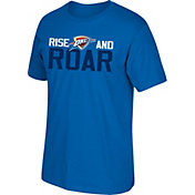"adidas Youth Oklahoma City Thunder 2017 NBA Playoffs ""Rise & Roar"" Blue T-Shirt"