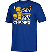 "adidas Youth 2017 NBA Champions Golden State Warriors ""The Bay's Day"" Parade Royal T-Shirt"