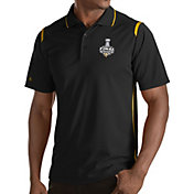 Antigua Men's 2017 NHL Stanley Cup Final Pittsburgh Penguins Merit Black Polo
