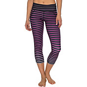 Betsey Johnson Ombre Stripe Crop Leggings