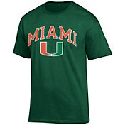 Champion Men's Miami Hurricanes Green Big Soft T-Shirt
