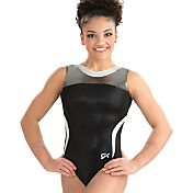 GK Elite Women's Black Tie Gymnastics Leotard