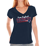 Touch by Alyssa Milano Women's New England Patriots Foil V-Neck T-Shirt