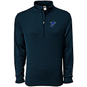 Levelwear Men's St. Louis Blues Pacer Navy Quarter-Zip Shirt
