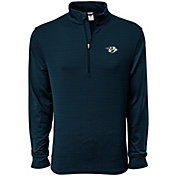 Levelwear Men's Nashville Predators Pacer Navy Quarter-Zip Shirt