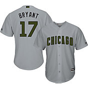 Majestic Men's Replica Chicago Cubs Kris Bryant #17 2017 Memorial Day Cool Base Jersey