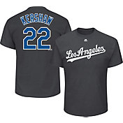 Majestic Men's Los Angeles Dodgers Clayton Kershaw #22 Grey T-Shirt