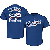 Majestic Men's Los Angeles Dodgers Claytob Kershaw #22 Royal Americana T-Shirt