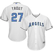 Majestic Men's Replica Los Angeles Angels Mike Trout #27 2017 Father's Day Cool Base Jersey