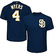 Majestic Men's San Diego Padres Wil Myers #4 Navy T-Shirt