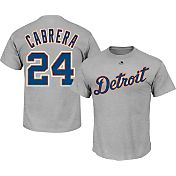 Majestic Men's Detroit Tigers Miguel Cabrera #24 Grey T-Shirt