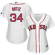 Majestic Women's Replica Boston Red Sox David Ortiz #34 Cool Base Home White Jersey