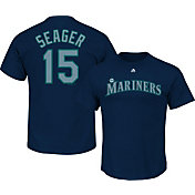 Majestic Youth Seattle Mariners Kyle Seager #15 Navy T-Shirt