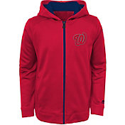 Majestic Youth Washington Nationals Club Series Red Full-Zip Hooded Fleece