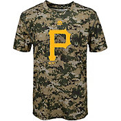 Majestic Youth Pittsburgh Pirates Cool Base Digi Camo Performance T-Shirt