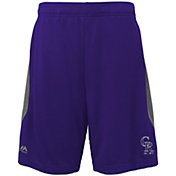 Majestic Youth Colorado Rockies Cool Base Rally Purple Performance Shorts