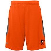Majestic Youth Baltimore Orioles Cool Base Rally Orange Performance Shorts