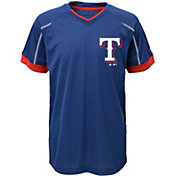 Majestic Youth Texas Rangers Cool Base Emergence Royal Performance T-Shirt