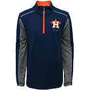 Majestic Youth Houston Astros Club Series Navy Quarter-Zip Fleece