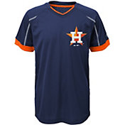 Majestic Youth Houston Astros Cool Base Emergence Navy Performance T-Shirt