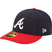 New Era Men's Atlanta Braves 59Fifty Home Navy Low Crown Authentic Hat