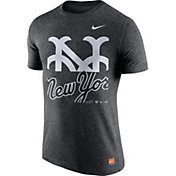 Nike Men's New York Mets Cooperstown Grey Tri-Blend T-Shirt