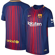 Nike Youth Barcelona 17/18 Breathe Replica Home Stadium Jersey