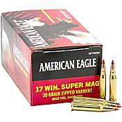 Federal American Eagle .17 WIN Super Mag Poly Tip Rifle Ammunition – 20 Grain