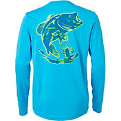 Field & Stream Boys' Graphic Long Sleeve Technical Shirt