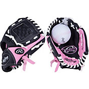 Rawlings 8.5' Girls' T-Ball Player's Series Glove w/ Ball