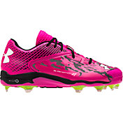 Under Armour Men's Deception Low DT LE Power In Pink Baseball Cleats
