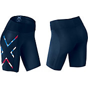 2XU Women's Stars & Stripes Mid-Rise Compression Shorts