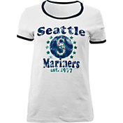 5th & Ocean Women's Seattle Mariners White T-Shirt