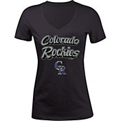 5th & Ocean Women's Colorado Rockies Black V-Neck T-Shirt