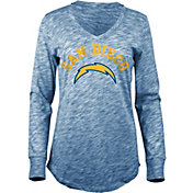 New Era Women's San Diego Chargers Space Dye Navy Long Sleeve Shirt