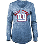 5th & Ocean Women's New York Giants Space Dye Royal Long Sleeve Shirt