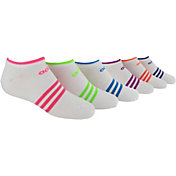 adidas Girls' Superlite No Show Socks 6 Pack