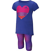 adidas Infant Girls' Printed T-Shirt and Capris