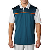 adidas Men's climacool Blocked Print Golf Polo