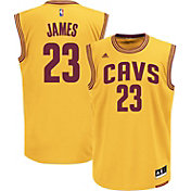 adidas Men's Cleveland Cavaliers LeBron James #23 Alternate Gold Replica Jersey