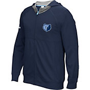 adidas Men's Memphis Grizzlies Pre-Game Navy Full-Zip Hoodie