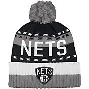 adidas Men's Brooklyn Nets Cuffed Pom Knit Hat