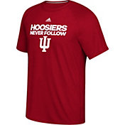 adidas Men's Indiana Hoosiers Crimson 'Never Follow' T-Shirt