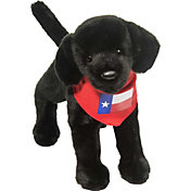 Douglas Texas Black Lab Stuffed Animal