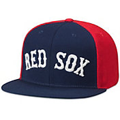 American Needle Men's Boston Red Sox Navy/Red Scripteez Hat