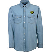Antigua Men's Columbus Crew Chambray Long-Sleeve Shirt