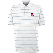 Antigua Men's Rutgers Scarlet Knights Deluxe Performance White Polo